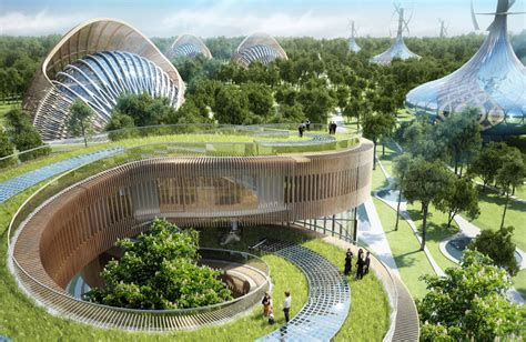 Eco Friendly Architecture Concept Ideas Eco Villa Concepts In Flavours Orchard China By Vincent Callebaut Architecture Homeli