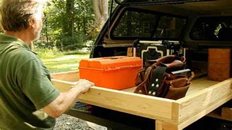 build  sliding truck bed drawer   easy access