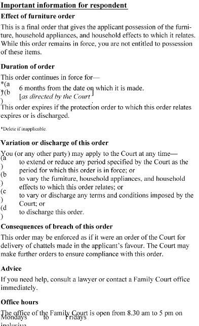 section 23 of domestic violence act family courts rules 2002 sr 2002 261 as at 03 august
