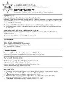 Federal Job Resume Example by Free Law Enforcement Resume Example Writing Resume