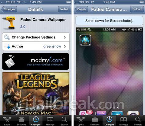 Camera Wallpaper Cydia Repo | faded camera wallpaper cydia tweak will add the front