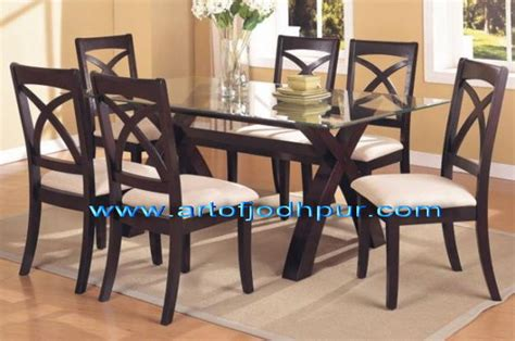 glass and wood dining table set sheesham wood glass top dining set used dining table for