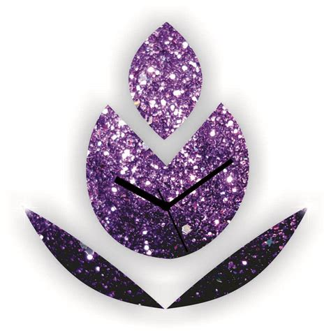 Discount Wall Decor Home Accents by Buy Glitter Budding Flower Wall Clock Purple Online At