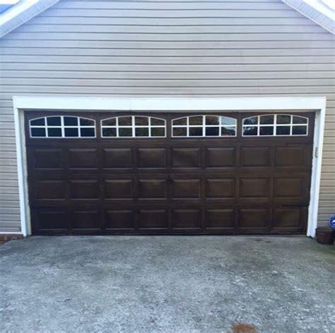 Stain Garage Door Garage Door Makeover Base Coat Color Of Wood Gel Stain By Masters In Walnut