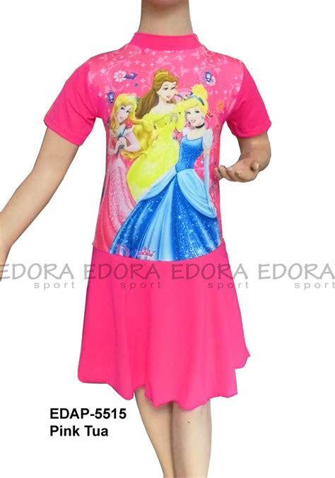Baju Renang Diving Rok Tanggung baju renang diving rok karakter edap 5515 pink tua distributor dan toko jual baju renang