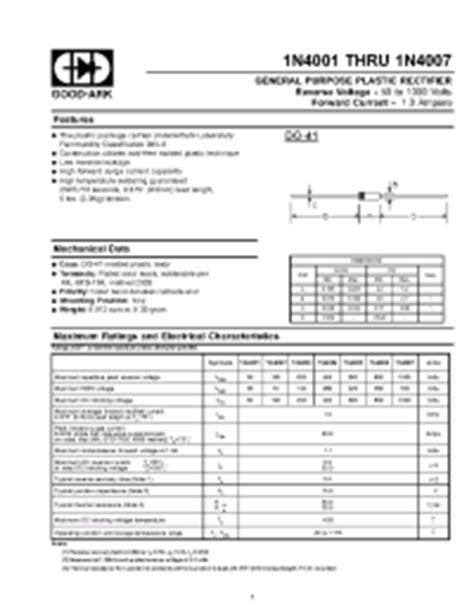1n4007 diode dimensions 1n4007 ark general purpose plastic rectifier