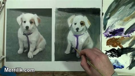 puppy painting learn painting 1 2 how to paint a puppy