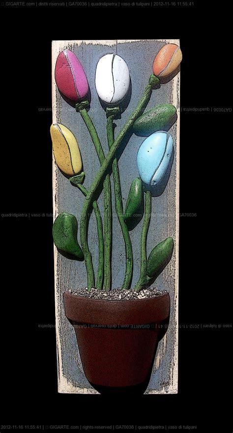 vaso di tulipani vaso di tulipani paint on sten
