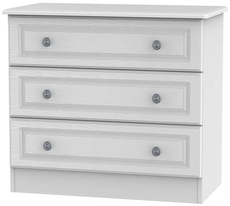 Three Drawer Chest White by Pembroke White Chest Of Drawer 3 Drawer Welcome Furniture