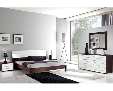 two tone bedroom furniture italian modern two tone bedroom set 33b221