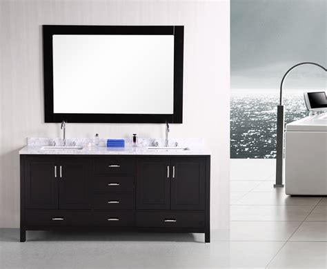 Bathroom Sink With 2 Faucets Adorna 72 Inch Transitional Double Sink Bathroom Vanity Set