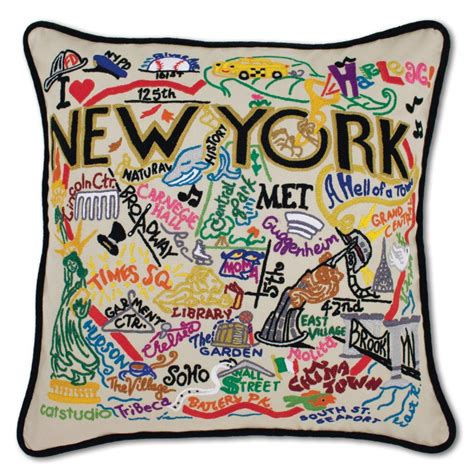 New York City Pillows by New York City Embroidered Pillow