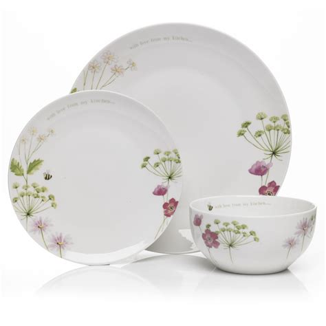 Dinner Set | wilko dinner set with love kitchen range 12 piece at wilko com