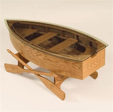 rowboat coffee table lake house boats