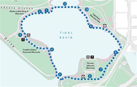 washington dc map tidal basin tidal basin loop trail cherry blossom festival u s