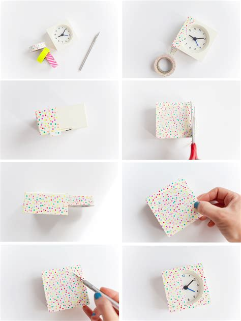 washi tape diy diy washi tape clocks tell love and party