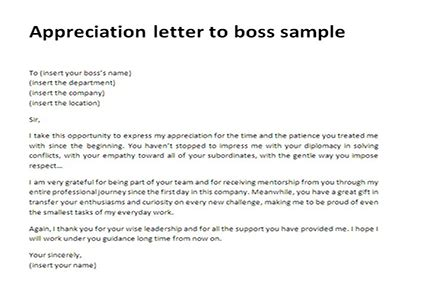 appreciation letter for an employee to manager appreciation letter to sle thank you letter to
