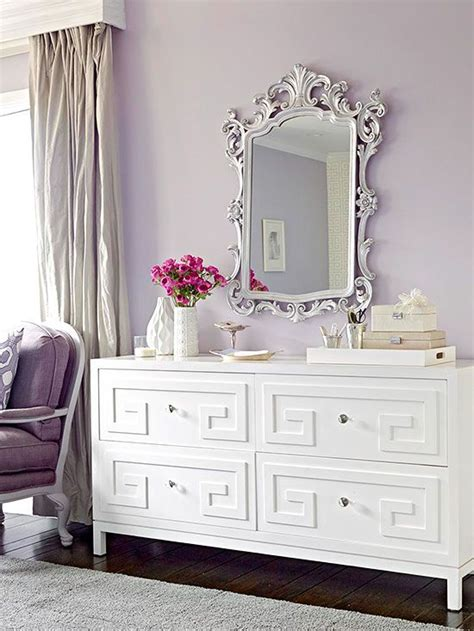 how to decorate bedroom dresser ideas para decorar con el color lila