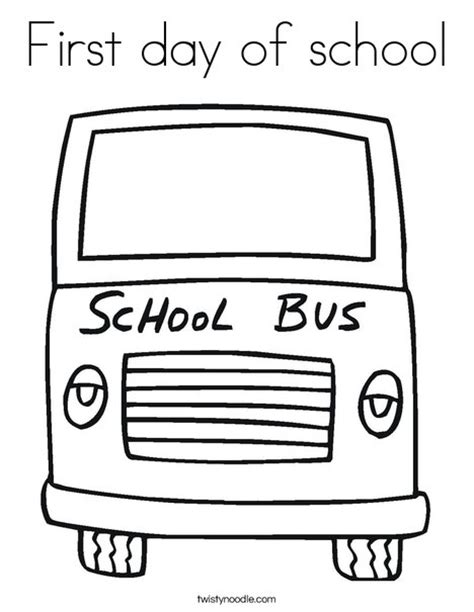 coloring pages first day school first day of school coloring page twisty noodle