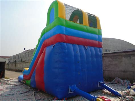 blow up water slide inflatable colourful water slide for