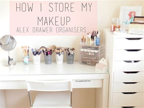 makeup desk with drawers makeup storage ikea alex drawers and malm dressing