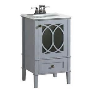 Home Depot Vanity Top Colors Simpli Home 20 In W Vanity In Grey With Quartz