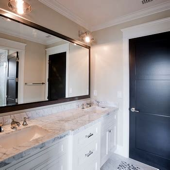 black framed mirrors for bathroom black framed mirror transitional bathroom j k place