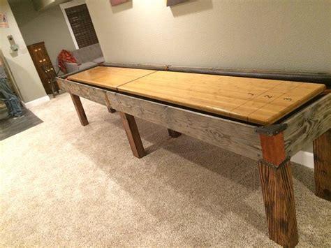 best wood for shuffleboard table handmade custom shuffleboard table by ginger hawk customs