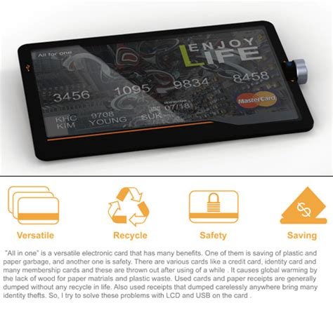electronic card all in one credit card yanko design
