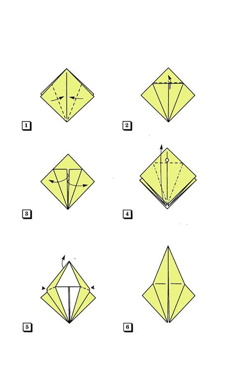 Origami Forms - the basic form of quot bird quot
