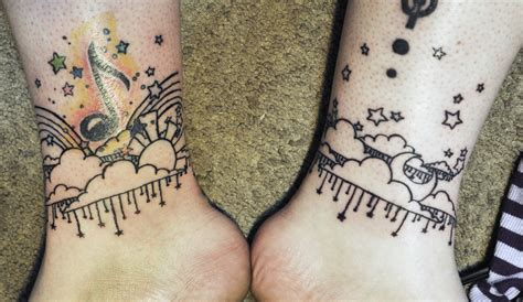 night tattoos kawaii day ankle tattoos