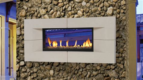 two sided indoor outdoor fireplace inside in living
