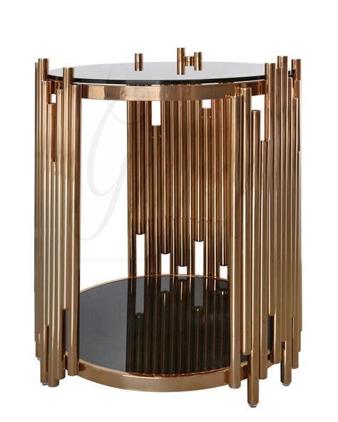 metal and glass end tables lorentz metal and glass end table