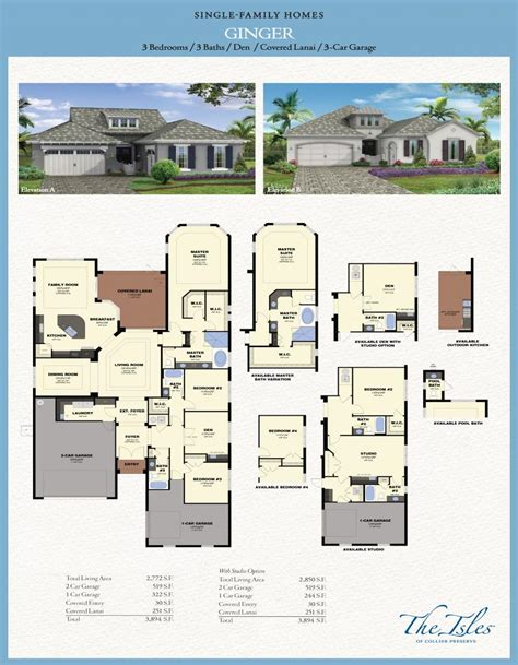 Sun City Floor Plans the isles of collier preserve ginger model florida