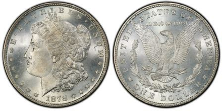 1878 7tf $1 reverse of 1879 (regular strike) pcgs coinfacts
