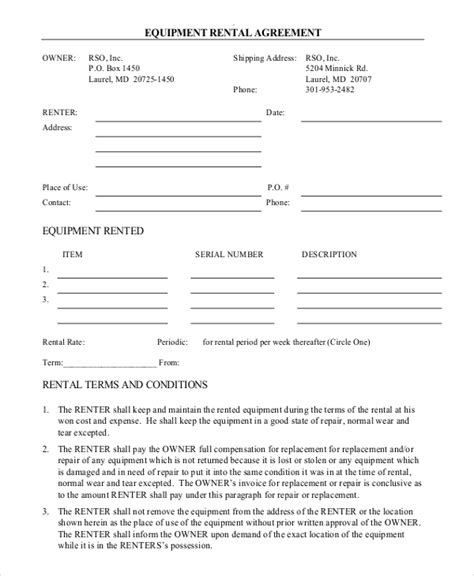 free agreement form rental agreement form 12 free word pdf documents