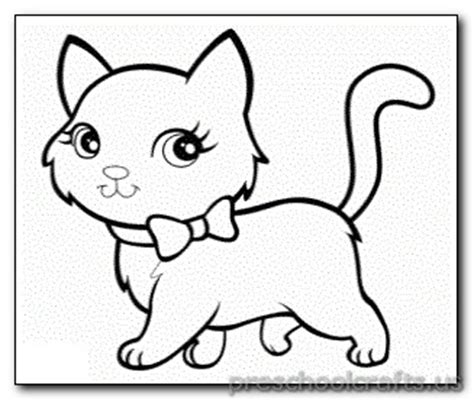 preschool coloring pages cats kitten coloring pages for kids preschool crafts
