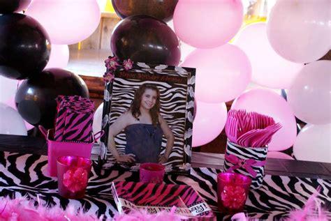 zebra themed birthday party pink zebra theme birthday party ideas photo 3 of 14