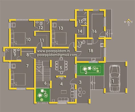 bedroom villa house plans thrissur small home plans