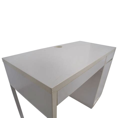 white desk with printer storage 60 two drawer white desk with high rover and