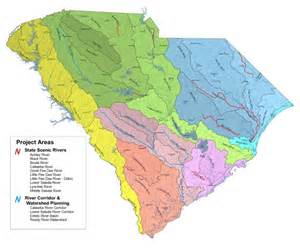 map of rivers in carolina scdnr scenic rivers water basins