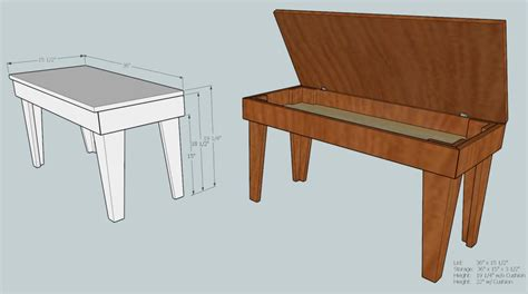 how to make a piano bench pdf piano bench designs plans free