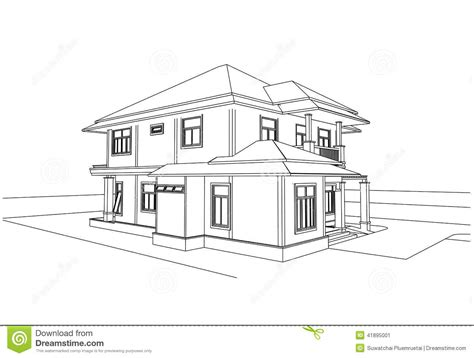 home design sketch free sketch design of house vector stock vector illustration