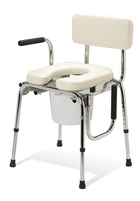 Drop Arm Commode Chair by Bath Safety Equipment Guardian Padded Drop Arm Commode Free Shipping