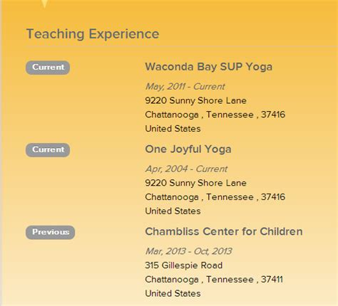 Build Your Resume Online For Free by Build Your Online Yoga Resume Yoga Alliance