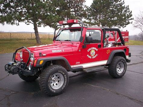 jeep brush truck columbia township department wrangler tj brush