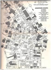 Downtown Atlanta Map by Downtown Atlanta Map 1949