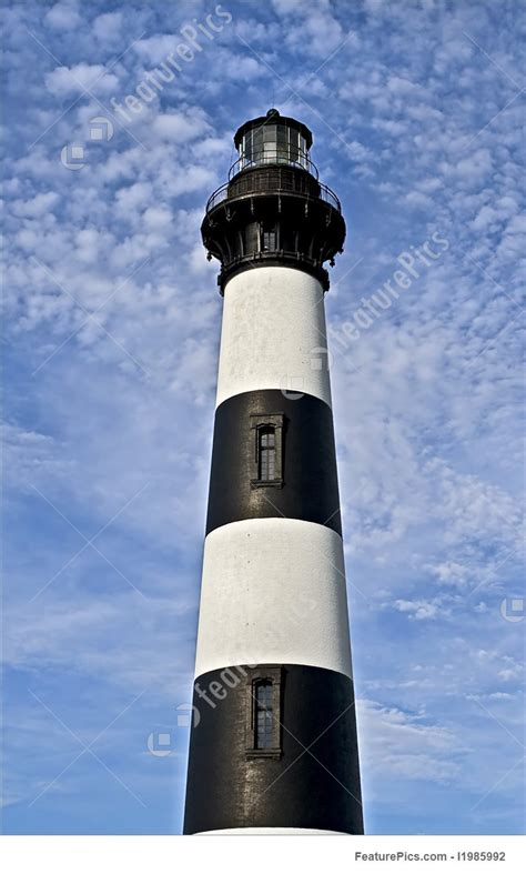 architecture black  white striped lighthouse stock