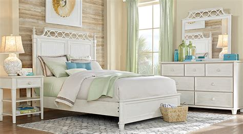 White Cottage King Bedroom Furniture by Cottage White 5 Pc King Panel Bedroom King Bedroom
