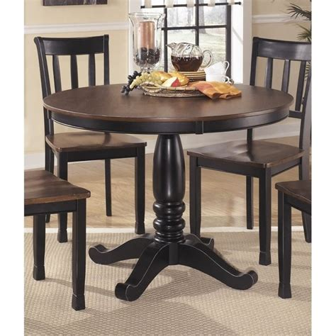 Black And Brown Dining Table Owingsville Dining Table In Black And Brown D580 15tb Kit